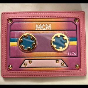 NIB New MCM Pink Leather Card Case Holder Wallet